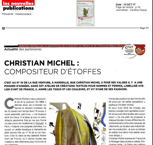 Portrait dans Les nouvelles Publications – Marseille