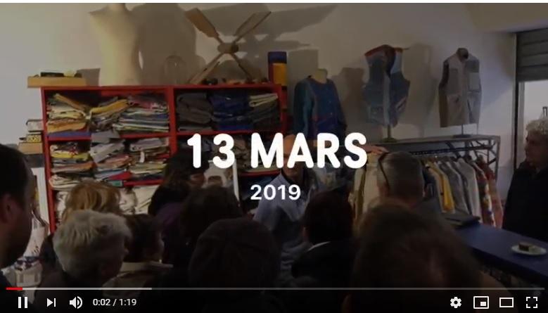 Visite de l'atelier avec l'association Marseille Autrement